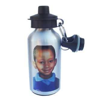 Personalised 400ml Aluminium Water Bottle - Silver